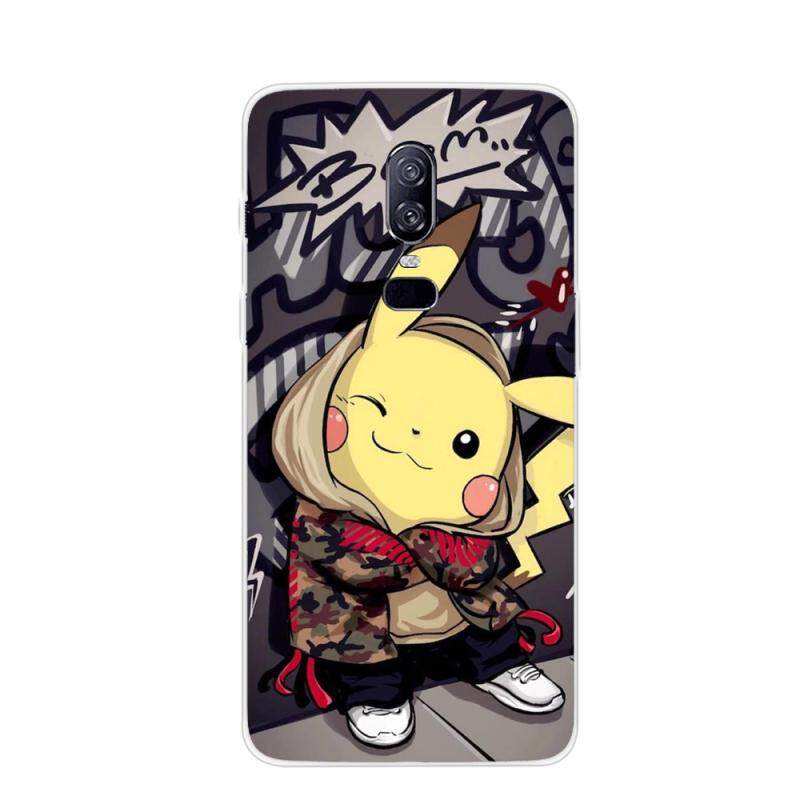 Moonmini Case for OnePlus 6 Back Case Slim Fit Color Painting Series 2 Soft TPU Phone