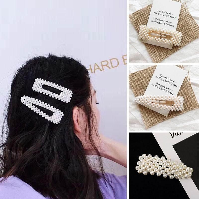 3 Pc Mode Untuk Wanita Jepit Rambut Dengan Mutiara Gaya Korea Jepit Wanita Mutiara Buatan Tangan