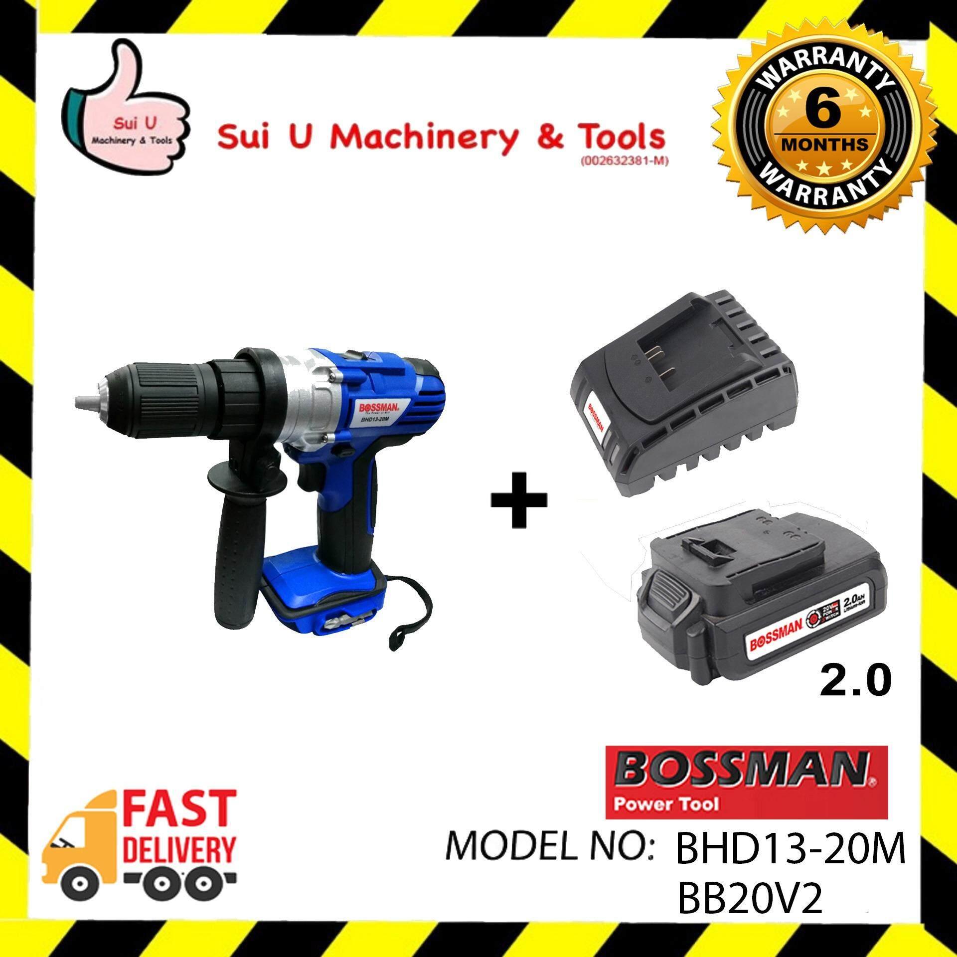 Bossman BHD13-20M 20V Cordless Hammer + Battery 2.0
