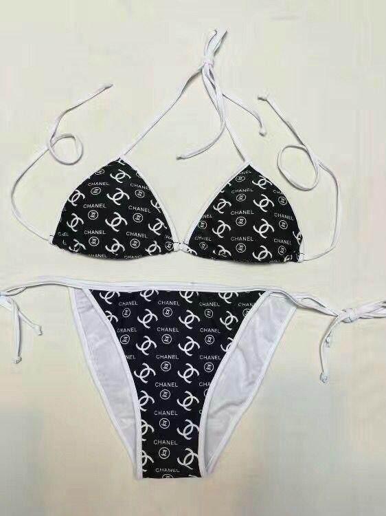 62a95b4dcafed1 Chanel Bikinis Women Push-Up Padded Bra Beach Bikini Set Swimsuit Swimwear  women Bikini 2019