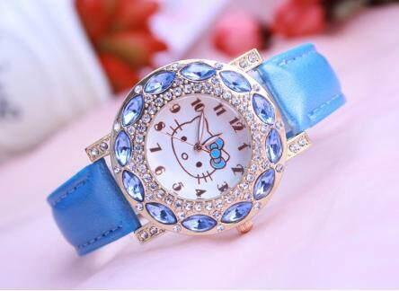 Syurga KT Waistwatches Diamond Jeweled Cute Girl Watch Hello Kitty Malaysia