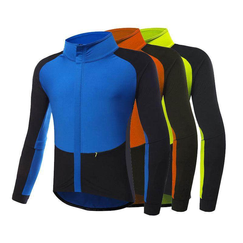 Mens Fleece Stretch Breathable Warm Long Sleeve Jersey By Wellsunny.