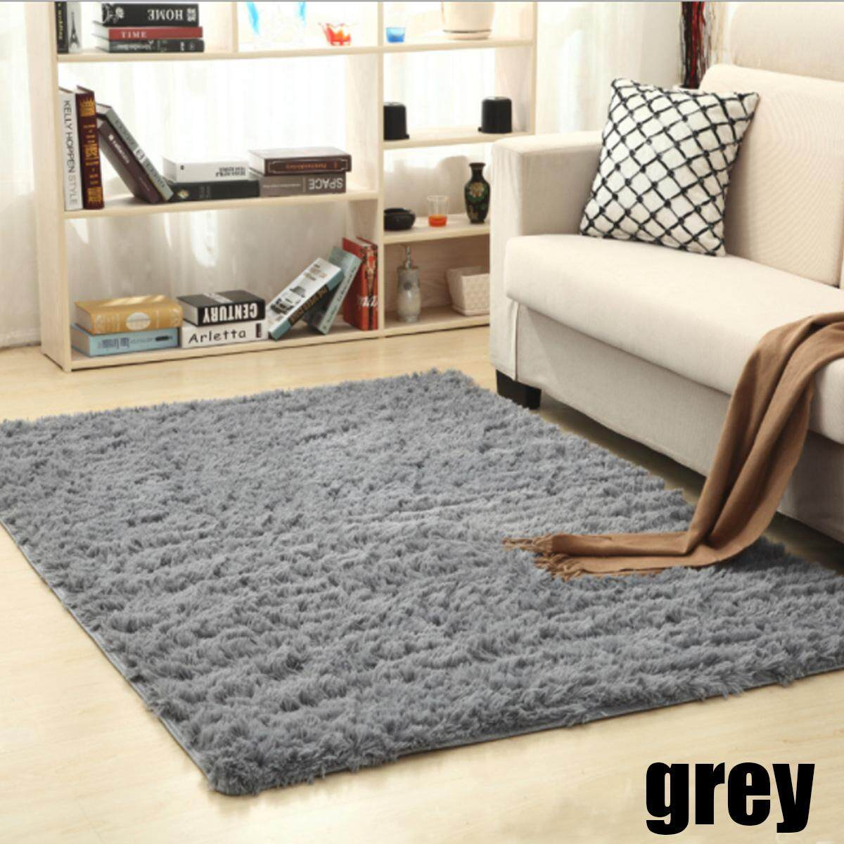 Clever Plush Round Shape Carpet Throw Rug Anti-skid Shaggy Area Rug Soft Floor Mat House Living Room Bedroom Carpet Floor Rug Power Source