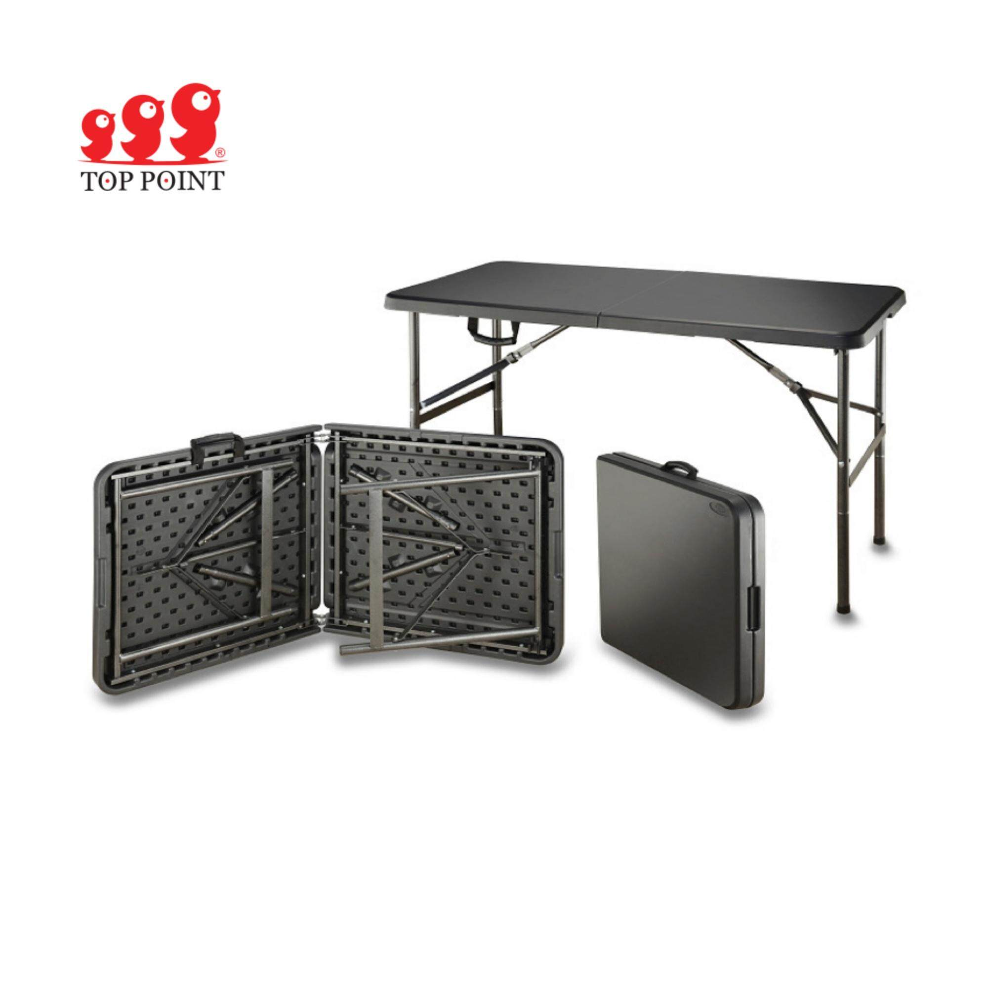 Top Point Multifunctional And Portable 2 Way Folding Table (grey Color) By Lccs Store.