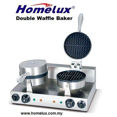 HOMELUX DOUBLE WAFFLE BAKER HBWB-2
