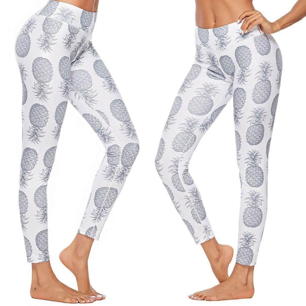 b984d98e0ec Qusaystore Women Workout PineapplePrint Leggings Fitness Sport Gym Yoga Athletic  Pants
