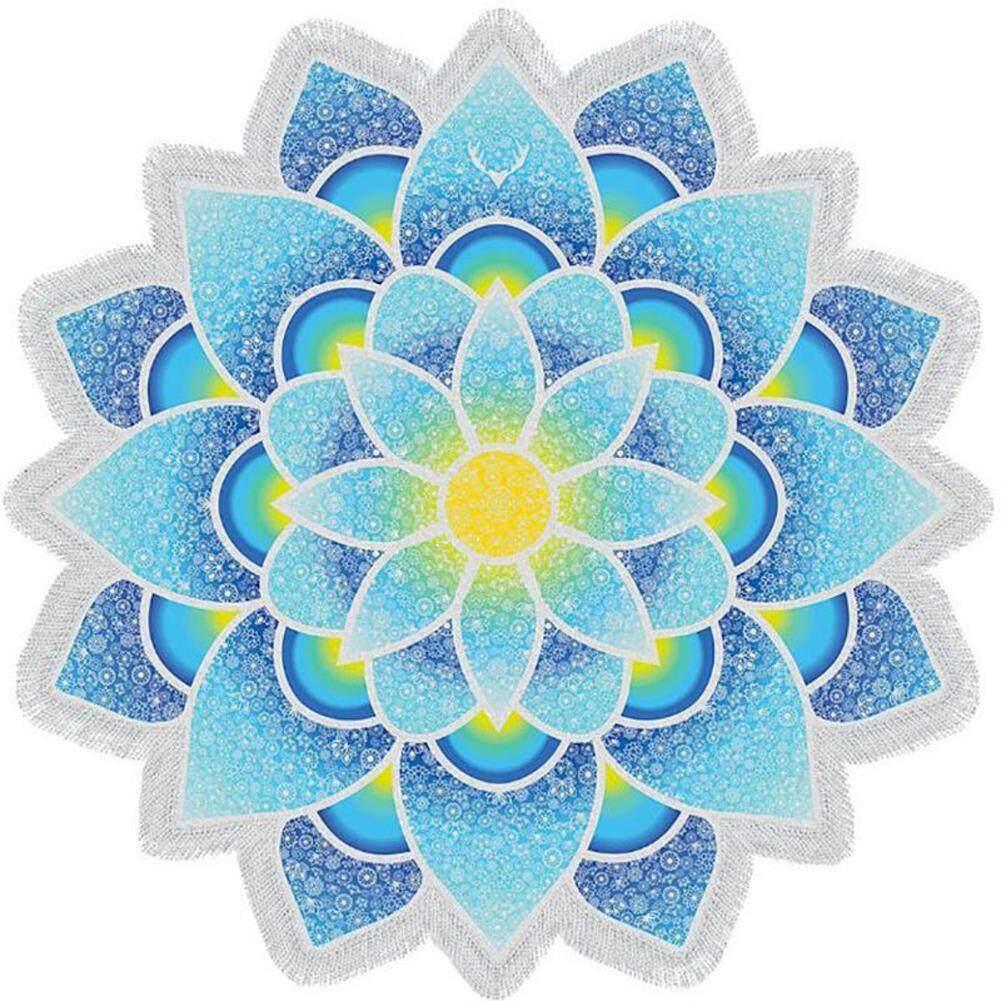 Summer Art Mandala Gift Printed Tassel Decor Throw Picnic Yoga Round Wall Hanging Beach Home Tapestry