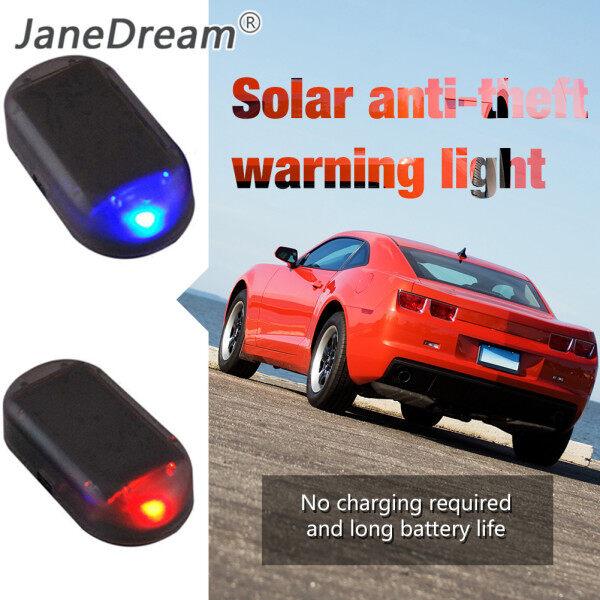JaneDream 1 Chiếc Đèn An Ninh Giả Cho Xe Hơi, Báo Động Giả Chạy Bằng Năng Lượng Mặt Trời Đèn Cảnh Báo Chống Trộm Cảnh Báo Không Dây, LED Nhấp Nháy Giả