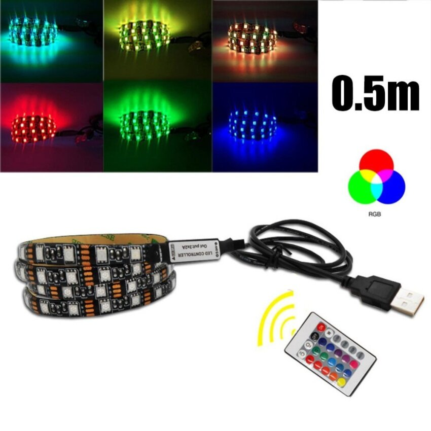 0.5M Fashion 5V Led Strip Light With Remote Control USB Lamp Tape