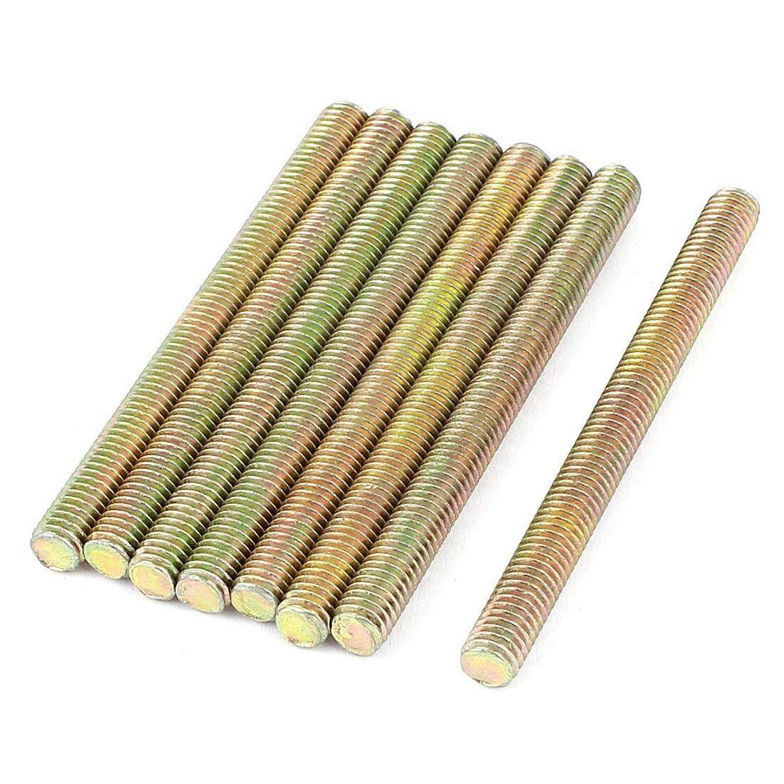 1 mm Pitch M6 x 70mm Male Threaded Rod Bar Bronze Tone 8 Pcs - intl image