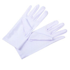 1 PC Wedding Bride White Color Cotton General Purpose Moisturising Lining Gloves Health Working Gloves