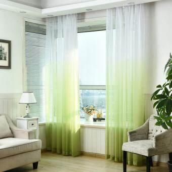 1 PCS 100X270cm Voile rainbow kitchen modern balcony tulle curtain-