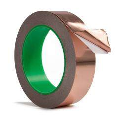 1 Roll 0.79inch x 22 Yard Adhesive Copper Foil Tape EMI Shielding Conductive Heat Insulation for Electronics Repairing