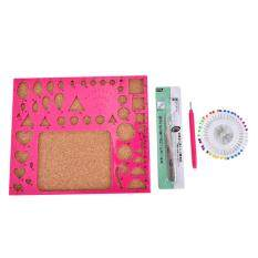 1 Set Paper Quilling Tool Kit Papercraft Tool DIY Handicraft Apply Mould Board