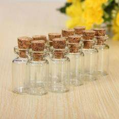 10 Pcs Tiny Small Clear Cork Glass Bottles Vials For Wedding Decor