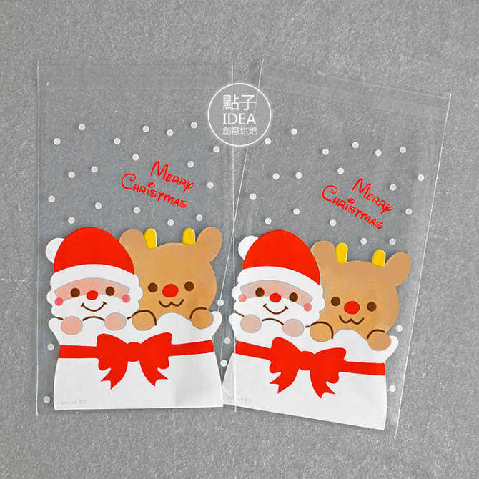 100, dress cookie biscuit candy cattle rolling sugar bag Christmas old biscuit bag Christmas's day penguin baking Packaging