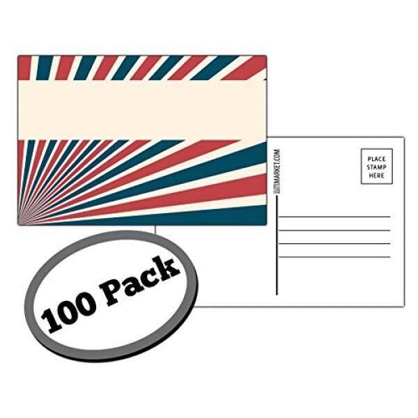 100 Pack dari Kartu Pos Kosong. Setiap Kartu Di Ini Patriotik, Massal Set Adalah Ukuran 4X6 dan USPS Compliant (Mailable). Besar untuk Mendapatkan Suara atau untuk Protes. Flip Sisi Putih Polos dan Tidak Terpakai. (Sinar)-Intl