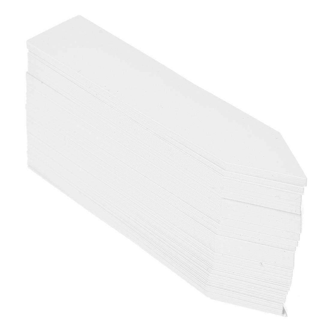 100 ชิ้นเมล็ดพืชพลาสติกฉลากหม้อเครื่องหมายเนอสเซอรี่สวน Stake แท็ก 10 เซนติเมตร X 2 เซนติเมตร (สีขาว) - นานาชาติ By Sillyshuai.