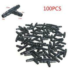 100 Per Pack Garden Agricultural Irrigation 1/4-Inch Barbed Drip Bulk Tee Connector Fittings 35x14x3mm