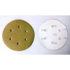 100-Piece G80 150mm 6Holes Velcro Sanding Disc