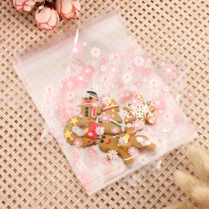 ... 1000 Pcs Cute Christmas Xmas Cookie Biscuit Gift Candy Party Filler Cellophane Bags intl