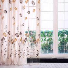 Epayst 100*200cm Tulips Printing Tulle Curtains Sheer Drape Balcony Window Decoration Orange By Epayst.