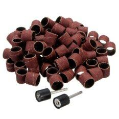 100pc 1/2 Sanding Bands Kit With 2 Sanding Drum Mandrel For Dremel Rotary Tools By Superbuy888.