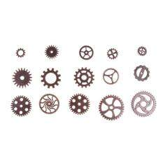 100pcs 127g DIY Vintage Metal Mixed Gears Cog Wheel Charms Pendant Sets(Gold)-D101204