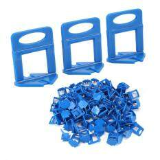 epayst 100pcs Blue Plastic Clips Floor Wall Tiling Level Spacers Tile Leveling System Tools