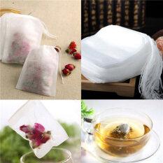100pcs Non Woven Tea Bags Seal Filter Herb Loose Disposable Tea Bags Convenient