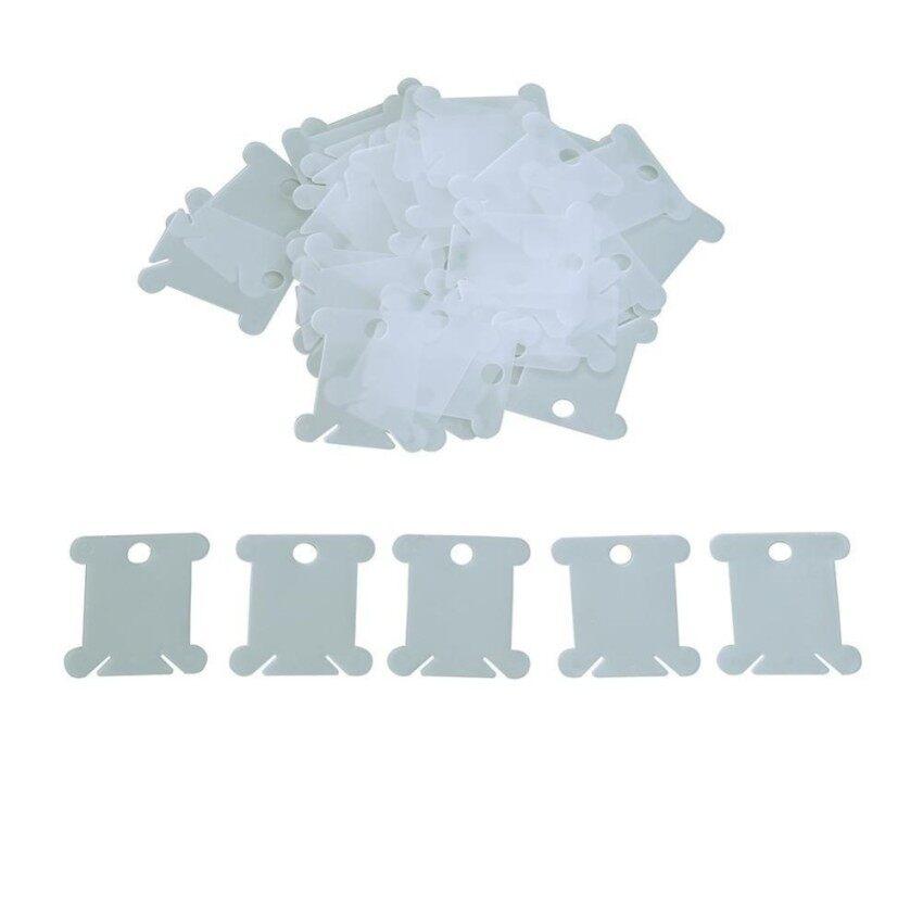 Rp 141.000 100 Pcs Plastik Bobbins Benang Bordir Penyimpanan Silang Stitch Benang Pemegang .