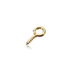 100Pcs Small Tiny Mini Eye Pins Eyepins Hooks Eyelets Screw Threaded Peg 8x3.5mm Gold