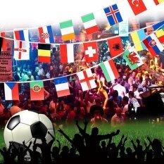 Orange Sunshine 100X Countries String Flag 25M International World 82ft Bar Party Bunting