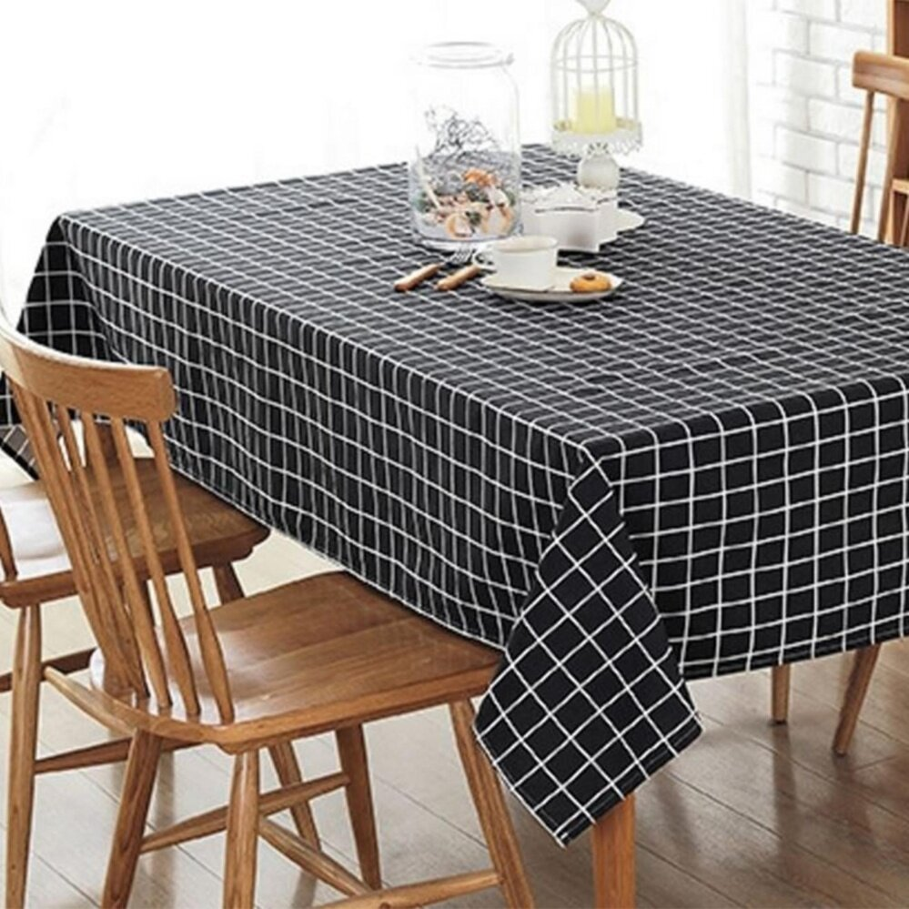 b21963d43 100x140cm Europe Simple Table Cloth Cotton Linen Print Dinning Tablecloths  Table Cover Home Decor