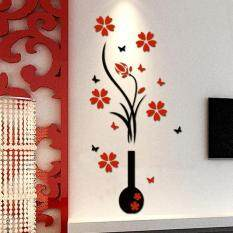 102*46CM DIY Vase Flower Tree Arcylic 3D Wall Stickers Decal Home Décor