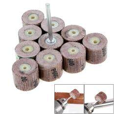 10pcs 240 Grit Flap Sanding Wheel Grinding Disc with 3mm Arbor for Dremel Rotary Tool / Mini Drill