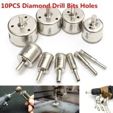 10Pcs 8-50mm Diamond Drill Bits Tool Hole Saw Cutter For Glass Marble Granite