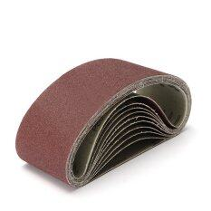 10PCS 80Grit Sanding Belt Heavy Duty For Metal Wood Working 100x610mm