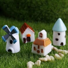 10pcs Colorful Mushroom Garden Ornament Miniature Plant Pots Fairy DIY Dollhouse Multi