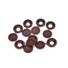 10pcs Hinged Plastic Screw Cover Fold Snap Caps For Car Home Furniture Decor Dark Brown