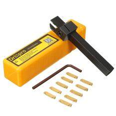 【Free Shipping】10pcs MGMN200 Carbide Inserts + MGEHR1010-2 Grooving Lathe Turning Tool Holder