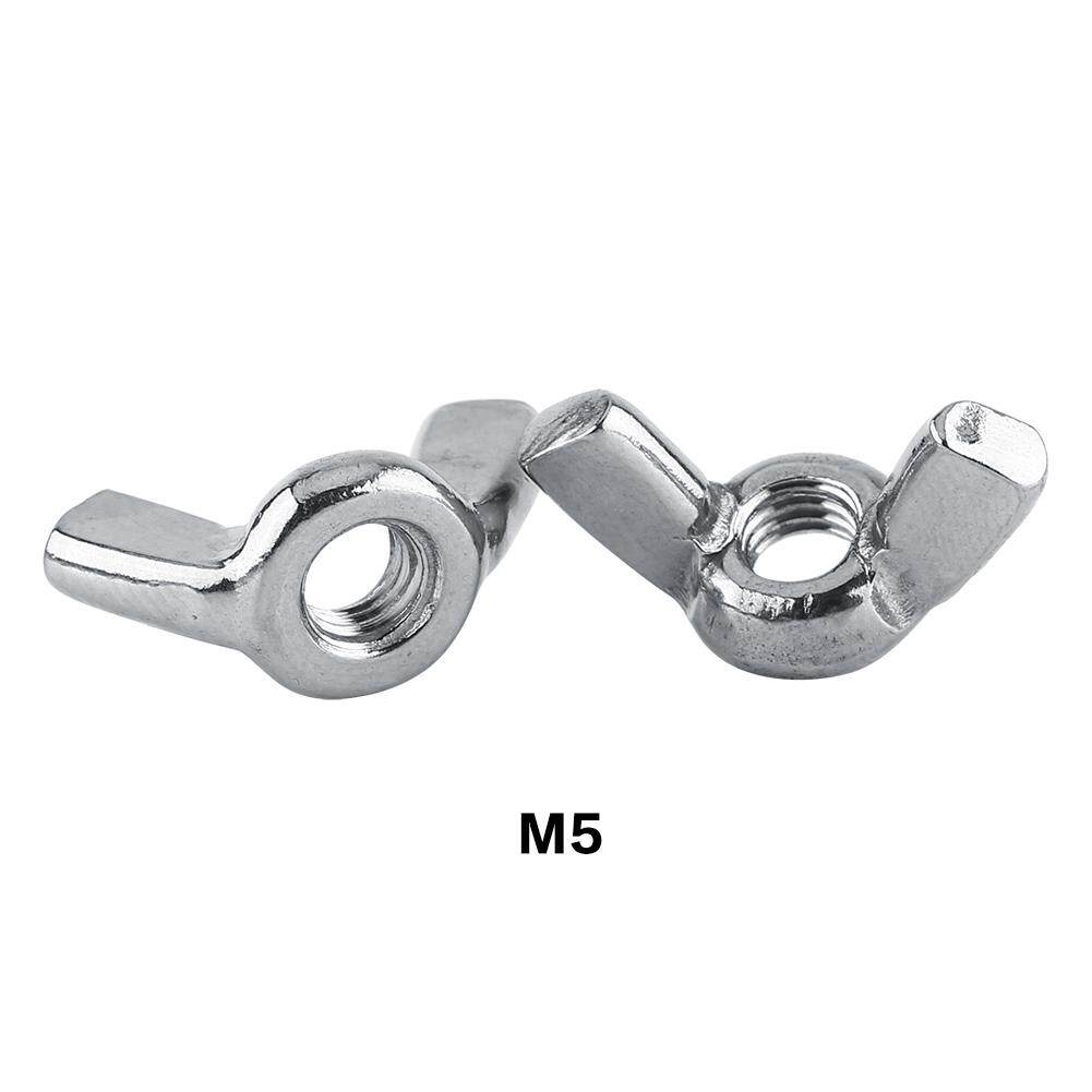 10pcs Stainless Steel SS316 Wing Nut Butterfly Securing Nuts Fastener (M5) - intl