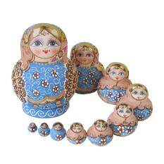 Mua 10pcs Wooden Hand Painted Nesting Dolls Babushka Gift