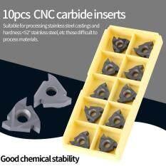 10Pcs/set CNC Carbide Tips Inserts Blade Lathe Turning Tool with Box