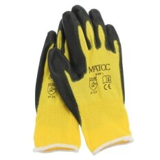 12 pairs Hi Vis Cold Store / Freezer / Thermal Grip Safety Work Gloves (L)