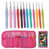 12 Pcs Set Crochet Hooks With Bag Hoses Handle Weave Craft Sweater Needles Best Price