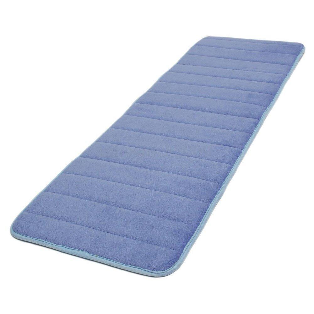 120X40 Cm Penyerap Anti Selip Memori Busa Dapur Pintu Kamar Tidur Keset Lantai Karpet Karpet Biru