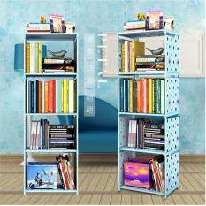 122*40*30cm DIY Free Combination Shelf Nonwovens Floor Living Room Kitchen Bathroom Storage Rack Simple Bookcase Bookshelf Creative Multilayer Shelf