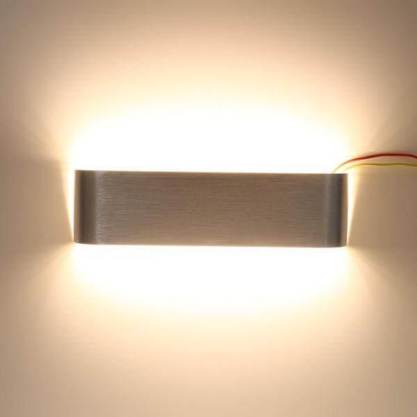12W Modern Minimalist Aluminum LED Wall Lamp Hallway Bathroom Light (Silver Warm White) - intl