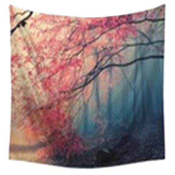 Rp 126.000 130x150cm Polyester Home Mandala Ethnic Wall Decor Art Forest Nature Animals Printing Bohemian Wall